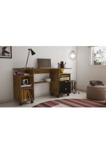 Mesa Para Computador Dalla Costa C215 Nobre/Preto Se