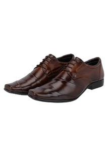 Sapato Social Cadarço Masculino Em Couro Leoppé Marrom