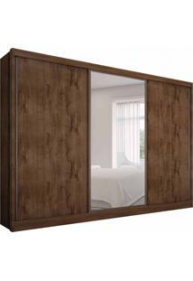 Guarda-Roupa Casal Com Espelho Spazzio 3 Pt 8 Gv Canela