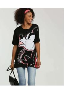 Camiseta Estampa Mickey Disney Manga Curta Feminina - Feminino