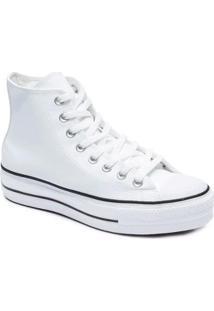 Tênis Converse All Star Chuck Taylor Platform Lif Feminino - Feminino-Branco+Preto