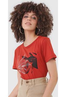 Camiseta Forum Folhagem Laranja