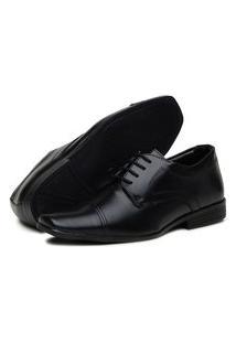Sapato Social Bico Fino Bertelli Antistress Preto