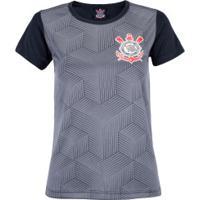 Camiseta Do Corinthians Cubos 18 - Feminina - Preto Cinza Esc 6bf84827d1200