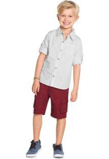 Camisa Infantil Trick Masculina - Masculino-Branco