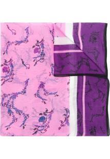 Escada Sport Floral Printed Scarf - Roxo