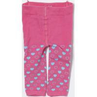 4afe4de90 Meia Calça Corações- Rosa   Azul Claro- Lupolupo