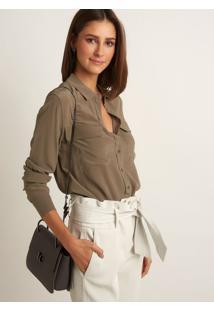 Camisa Le Lis Blanc Lucia 3 Tabaco Seda Verde Feminina 0436060c65