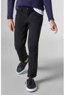 Calça Mini 5 Pockets Moletom Reserva Mini Masculina - Masculino-Preto