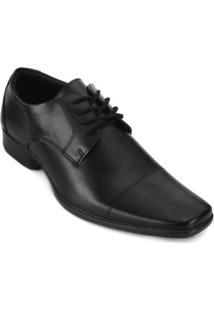3424ed163 Sapato Social Faraton Bico Quadrado Fr18-9017 Masculino - Masculino-Preto