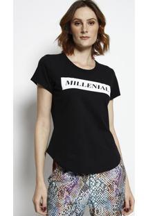 "Camiseta ""Millenial"" - Preta & Branca - Coca-Colacoca-Cola"