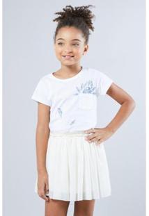 Camiseta Infantil Bolsinho Arara Reserva Mini Feminina - Feminino