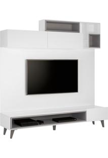 Estante Home Para Tv 49 Polegadas Tetris Branca E Cinza