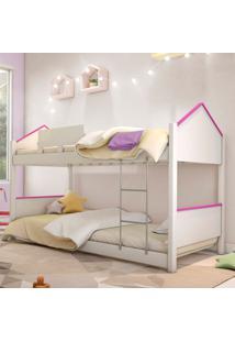 Beliche Prime Casa Branco E Rosa Juvenil Casah - Rosa - Menina - Dafiti