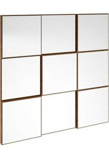Painel Decorativo Quadriculado Espelhado Tb86 Dalla Costa Nobre
