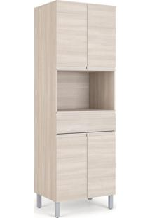 Paneleiro Belíssima Plus 4 Pt 1 Gv Saara Wood E Cetim 70 Cm
