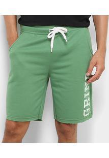 Bermuda Moletom Mood Unlimited Masculina - Masculino-Verde