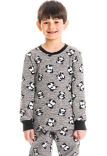 Pijama Infantil Masculino Longo Estampado Funny