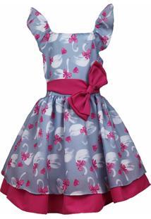 Vestido Katitus Infantil Cisne Pink