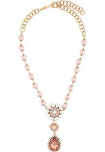Dolce & Gabbana Colar Com Cristais E Contas - Dourado