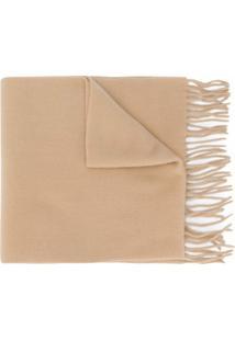 Moncler Cachecol De Lã Com Franjas - Neutro