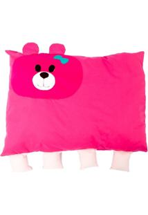 Travesseiro De Urso Colo De Mãe + Fronha Rosa - Kanui