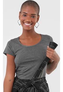 Camiseta Rovitex Lisa Cinza - Cinza - Feminino - Viscose - Dafiti
