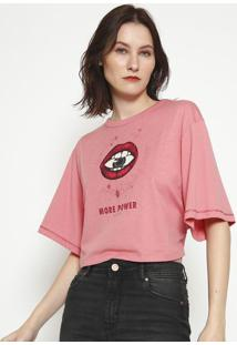 "Camiseta ""More Power""- Rosa- Colccicolcci"