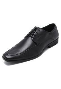 Sapato Social Ferracini Cadarço Preto