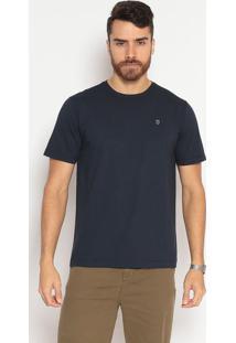 Camiseta Lisa Slim Fit - Azul Marinhoindividual