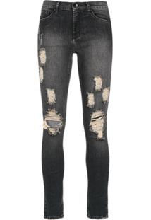 Amapô Calça Jeans Skinny  Rocker Three  - Preto ec2c888906421