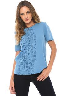 Camiseta Lança Perfume Estampada Azul