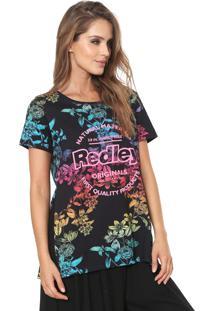 Camiseta Redley Fenda Preta
