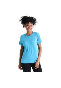Camiseta Basic Energy Ii - Azul Turquesa - Líquido