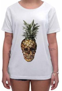 Camiseta Impermanence Estampada Pineaple Feminina - Feminino-Branco