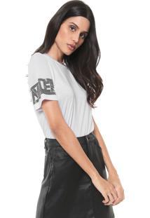 Camiseta Cavalera Estampada Branca