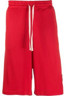 Vivienne Westwood Anglomania Bermuda Esportiva Com Patch De Logo - Vermelho
