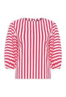 Camiseta Feminina Lines - Rosa