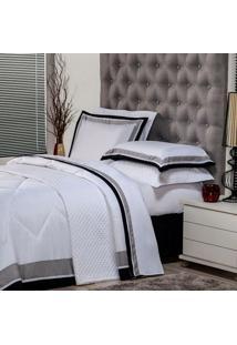 Edredom King Soft Comfort Poliéster Branco