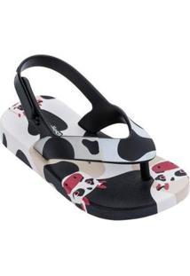 Sandálias Infantil Mini Melissa Feminino - Feminino-Bege+Preto