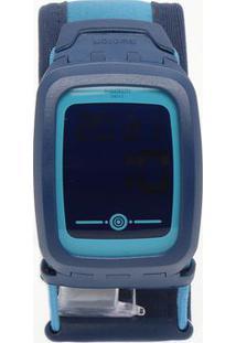 Relógio Digital Abstrato Svqn102Xs- Azul Escuro & Azul Cswatch