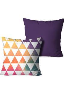 9408ca5b4 Kit 2 Capas De Almofada 45X45Cm Triângulos - Love Decor