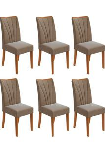 Conjunto Com 6 Cadeiras Apogeu L Rovere E Marrom