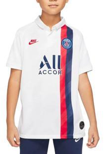 Camisa Infantil Nike Psg Y Stad Jsy Iii Branco/Vermelho - P