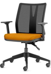 Cadeira Addit Assento Crepe Mostarda Com Base Piramidal Em Nylon - 54110 Sun House