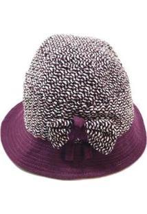 Chapéu Em Lã Batida - Feminino-Vinho