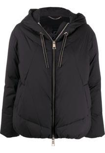 Liu Jo Padded Hooded Jacket - Preto