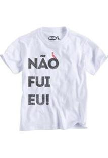 Camiseta Não Fui Eu Reserva Mini Infantil Masculino - Masculino-Branco