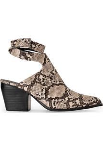 Ankle Boot Bico Fino Fivela