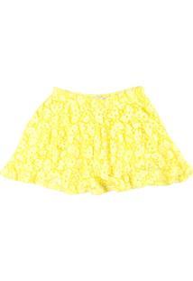 Saia Infantil Little Star - Feminino-Amarelo